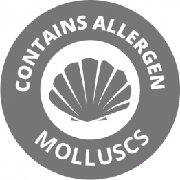 Allergen Labels - Contains Molluscs - 35mm Single Sheet