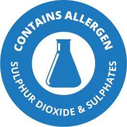 Allergen Labels - Contains Sulphur Dioxide & Sulphites - 35mm Single Sheet