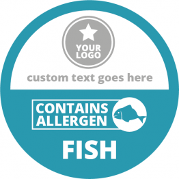 Allergen Labels - Contains Fish - 50mm Single Sheet