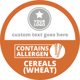 Allergen Labels - Contains Cereals - 50mm Single Sheet