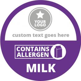 Allergen Labels - Contains Milk - 50mm Single Sheet