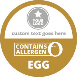 Allergen Labels - Contains Eggs - 50mm Single Sheet