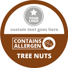 Allergen Labels - Contains Tree Nuts - 50mm Single Sheet