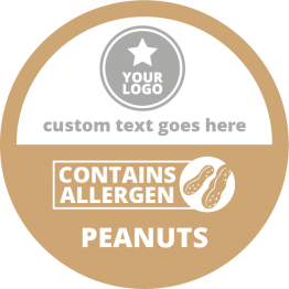 Allergen Labels - Contains Peanuts - 50mm Single Sheet