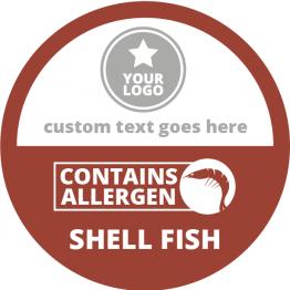 Allergen Labels - Contains Crustaceans - 50mm Single Sheet