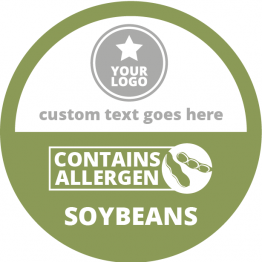 Allergen Labels - Contains Soybeans - 50mm Single Sheet