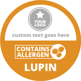 Allergen Labels - Contains Lupin - 50mm Single Sheet