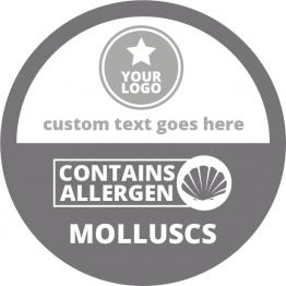 Allergen Labels - Contains Molluscs - 50mm Single Sheet