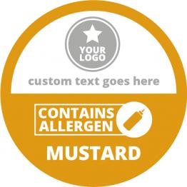 Allergen Labels - Contains Mustard - 50mm Single Sheet