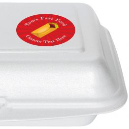 Fast Food Takeaway Label - Wrap