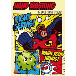 Hand Washing Superman Poster