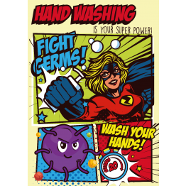 Handwashing Superwoman Poster