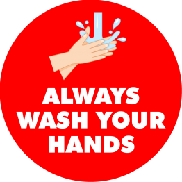 Always wash your hands sticker