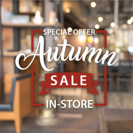Autumn Sale Vinyl Window Sticker