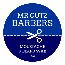 Barbers Product Label - Blue