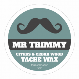 Barbers Product Label - Tache Wax