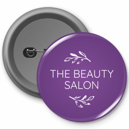 Personalised Button Badge - Beauty Salon Design