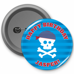 Personalised Button Badges - Pirate Design