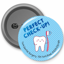 Personalised Dentist Button Badges