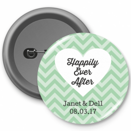 Personalised Button Badge - Happily Ever After