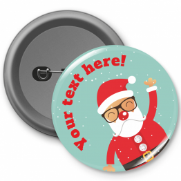 Personalised Button Badge - Spectacle Santa