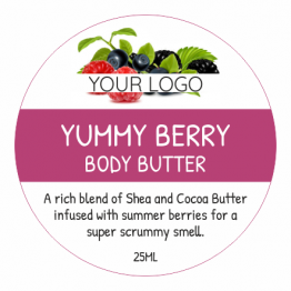 Beauty Product Label - Yummy Berry