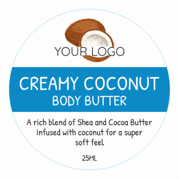 Beauty Product Label - Creamy Coconut