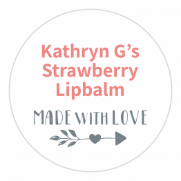 Made With Love Product Label - Arrow Design