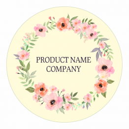 Product Labels - Pink Watercolour Wreath