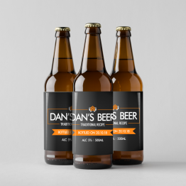 Homemade Beer Labels - Personalised Traditional Beer