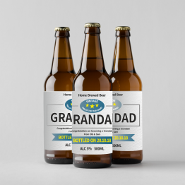 Homemade Beer Labels - Personalised Grandad Design