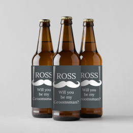 Homemade Wedding Beer Labels - Groomsman