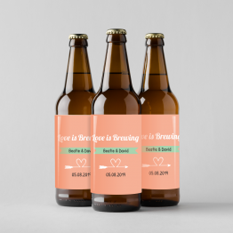 Personalised Wedding Beer Bottle Label - Love Is Brewing