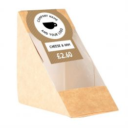 Sandwich Label - Brown Paper Design