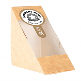 Sandwich Label (Lollipop) - Brown Paper Design