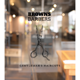 Barbers Scissors Window Decal