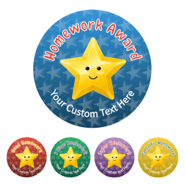 Homework Award Star Stickers - Value Packs