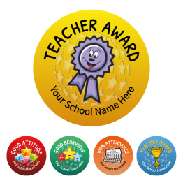 Teacher Award Stickers - Value Packs