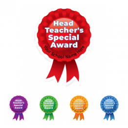 Head Teacher Award Rosette Stickers - Value Packs