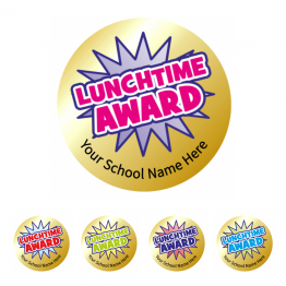 Gold Lunchtime Award Stickers - Value Packs