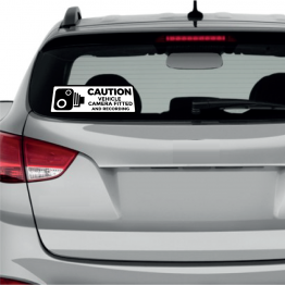 Caution Vehicle Camera Fitted Sticker