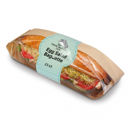 Chevron Baguette Label