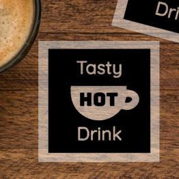 Tasty Hot Drink Clear Sticker