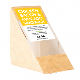 Sandwich Label - Rectangle - Colour Block Design