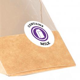 Allergen Label - Contains Milk