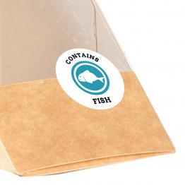 Allergen Label - Contains Fish