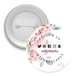 Floral Design Button Badge