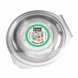 Clear Salad Sticker - Made Fresh Just For You