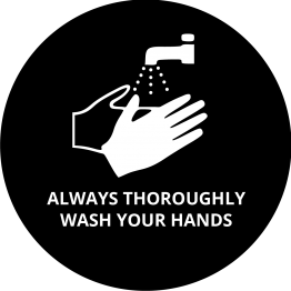 Always thoroughly wash your hands sticker