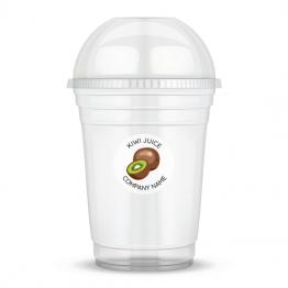 Clear Cup Sticker - Kiwi Juice